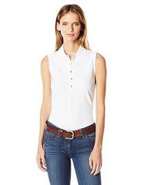 Ariat Women's Prix Short Sleeve Polo,White,X-Large