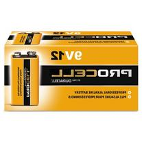 DURACELL 9 Volt  PROCELL Professional Alkaline Battery, Pack
