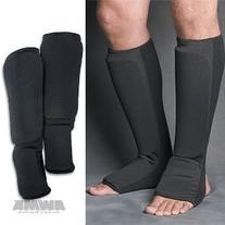 ProForce Cloth Shin Instep Guard Black - Size Large #84972