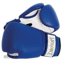 ProForce Leatherette Boxing Gloves, Blue & White 14 oz
