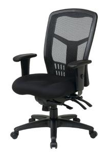 High-Back Ergonomic ProGrid Mesh-Back Office Chair Finish: