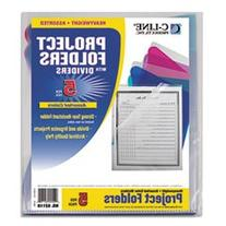 -- Project Folders with Dividers, Letter, 1/3 Tab, Clear/