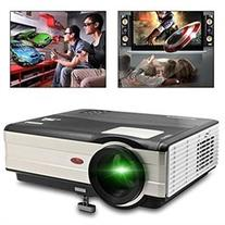 CAIWEI 1080P LCD Projector 3000 Lumnes Native 1024 768 LED