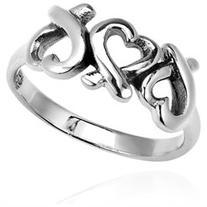 Promise of Love Triple Loving Heart .925 Sterling Silver