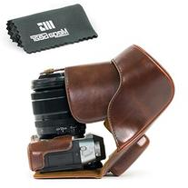 MegaGear Fujifilm X-T20 , X-T10 Ever Ready Leather Camera Case and Strap, with Battery Access -Dark Brown- -MG577