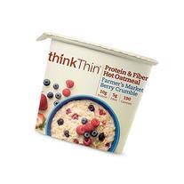 thinkThin Protein and Fiber Oatmeal, Farmer's Market Berry
