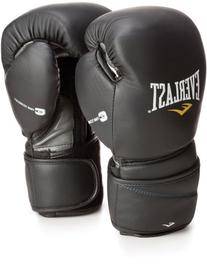 Everlast Black 16oz ProTex2 Leather Training Gloves