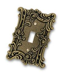 60TAB Provincial Toggle Wallplate, Antique Brass