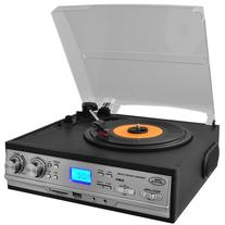 Pyle PTTCS9U Classic Retro Turntable with Am Fm Radio/