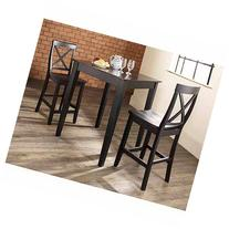 Crosley 3-Piece Pub Dining Set with Tapered Leg and X-Back