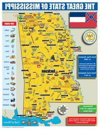 Gallopade Publishing Group Mississippi State Map for
