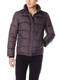 Calvin Klein Men's Puffer Jacket, Smoke, Large