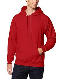 Hanes Men's Pullover EcoSmart Fleece Hoodie, Smoke Grey, Large