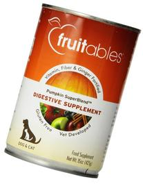 Fruitables Pumpkin Dog Digestive Supplement, with vitamin,