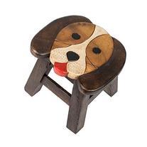 Puppy Dog Design Hand Carved Acacia Hardwood Decorative