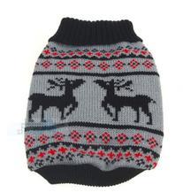 CYK07 Puppy Dog Little Heart Pattern Knit Sweater Coat