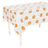 """Fun Express Puppy Dog Paw Print Plastic Table Cover - 54"""" x"""