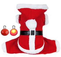 PETLESO Puppy Dog Christmas Coat Doggie Santa Costume Outfit