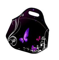 Purple Butterfly Soft Friendly Insulated Lunch box Food Bag