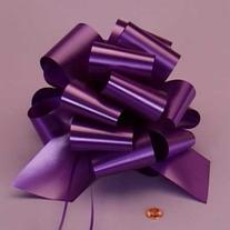 Purple Embossed Pull String Bow, 8