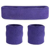 Suddora Red Headband / Wristband Set - Sports Sweatbands for