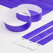 "Purple 3/4"" Tyvek Wristbands - 500 Pack Paper Wristbands for"