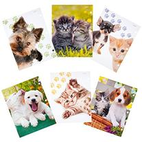 Mead Purrs & Grrrs 2-Pocket Folder, Assorted Designs, 6 Pack