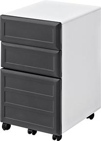 Pursuit Mobile Vertical File Cabinet in White and Gray
