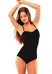 Push Up Bandeau Swimsuit! one pieces flav-1066-f3934 Black,