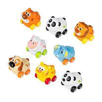 Push and Go Friction Powered Animal Cars, Panda, Lion, Dog