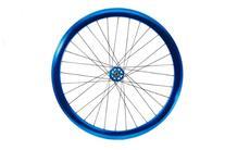 Fyxation Pusher Sealed Bearing Fixie Wheelset, Blue Anodized