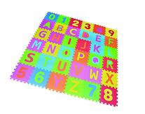 Letters & Numbers Puzzle Play Mat 36 Tiles EVA Foam Rainbow