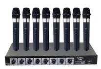 Pyle-Pro PDWM8400 8 Mic Professional Handheld VHF Wireless