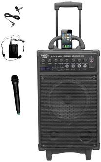 Pyle Pro 500 Watt Outdoor Portable Wireless PA Loud speaker