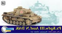 Dragon Models Pz.Kpfw.III Ausf.N DAK, S.Pz.Abt.501 Tunisia 1942/43 Kit, 1:72 Scale