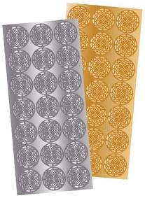 Quality Park Decorative Foil Envelope Seals, Pack of 21 Gold
