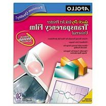 * Quick-Dry Transparency Film, Removable Sensing Stripe,