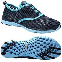 Aleader Women's Quick Drying Aqua Water Shoes, Blue 9 D US
