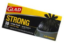Glad Outdoor Quick-Tie, Trash Bags Large, 30 Gallon 10 Bags