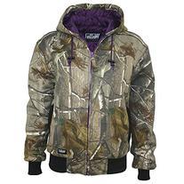 Walls Women's Ladies Quilted Fleece Hooded Jacket, Realtree