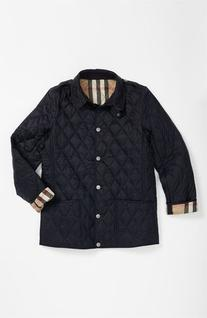 Girl's Burberry 'Mini Pirmont' Quilted Jacket