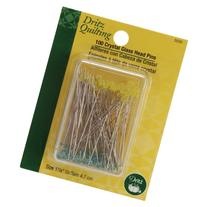 Dritz Quilting Crystal Glass Head Pins 1-7/8-100/Pkg