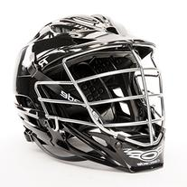 "Cascade ""R"" Lacrosse helmet - Black Chrome Facemask"