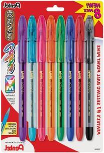 Pentel R.S.V.P. Ballpoint Pen, Medium Point, Assorted Ink