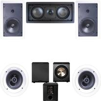 Klipsch R-1650-W In Wall #2 5.1 Home Theater System-FREE PL-