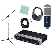 Mxl R144 Ribbon Mic, Shockmount, Mic Stand, Audio Interface