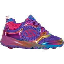Heelys Race Girl's Shoe - Black/ Rainbow