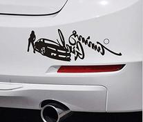 Racing Girl Car Bumper Sticker Trunk Decal