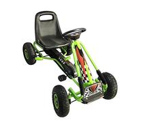 Vroom Rider Racing Pedal Go-Kart with Green Ride On