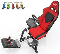 Openwheeler Racing Wheel Stand Cockpit Red on Black | For